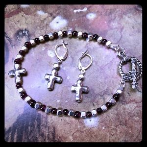 Your Garnet Cross Bracelet